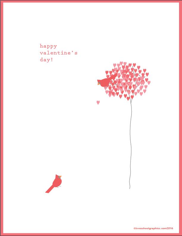 02b-February Valentine-Birds w Heart Tree-2016