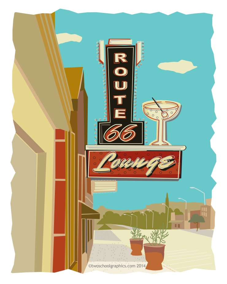 03-Route 66 Art-Route 66 LOUNGE-Red v12