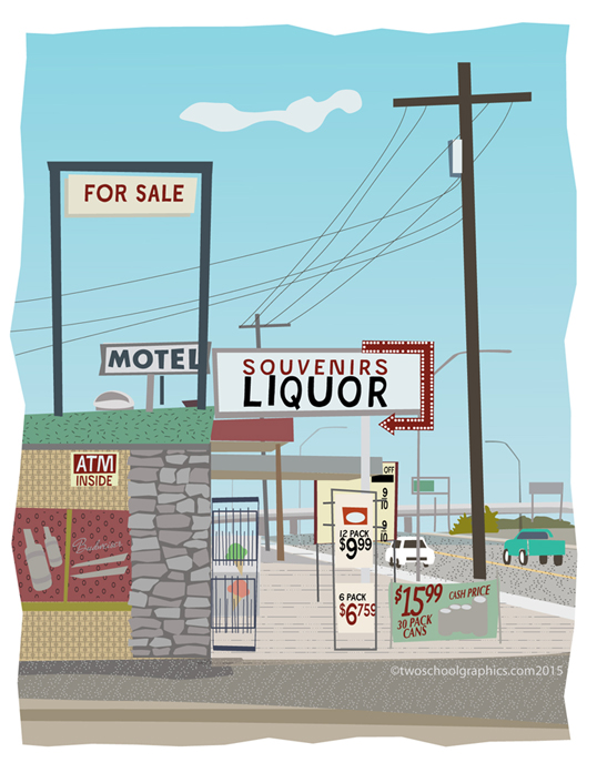 04-Route 66 Art-Liquor Store